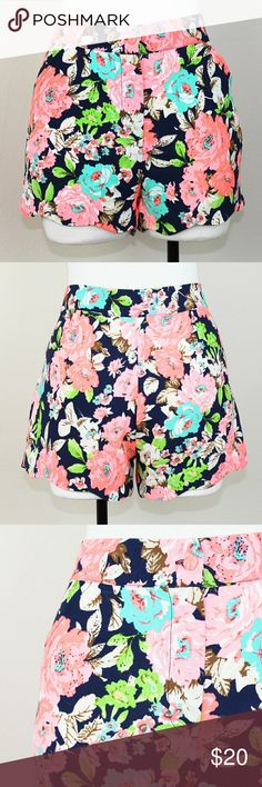 Lily Rain High Waisted Scalloped Hem Floral Shorts Adorable floral shorts from Lily Rain in excellent used condition. Features a scalloped hem, high waist and gorgeous neon floral pattern. The hem in loose around the legs, but can easily be fixed. Color is brighter in person. Super cute for summer!   Please let me know if you have questions or need more pictures. I will consider all reasonable offers, but no trades, please. Lily Rain  Shorts