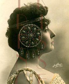 DIGITAL download EXOTIC Art Nouveau Jewelry Headdress French GLAMOUR ...461 x 563 | 39KB | www.zibbet.com