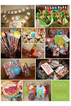 This blog on tipjunkie has GREAT ideas for activities during a Candyland themed b-day party