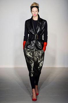 I might need a leather blazer.  Maybe.  #ClementsRibeiro #LFW