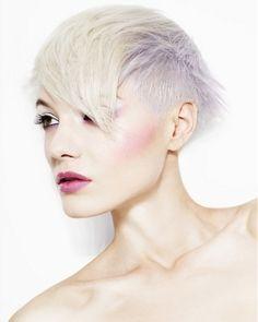 platinum blonde short hair