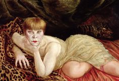 Reclining Woman on Leopard Skin by Otto Dix (1927)