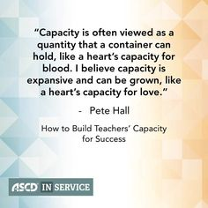 Capacity-building professional development can prepare #teachers to provide great instruction for all #students.
