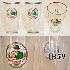 Lote de 2 Vasos Birra Moretti