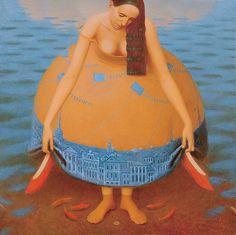 """Atlantida"", 2006                                           Andrey Remnev,                                             Oil on canvas."