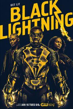 Black Lightning, nova série do canal CW protagonizada por um personagem da DC Comics – no caso Raio Negro, interpretado por Cress Williams– teve divulgado seu cartaz (no destaque) e tr…