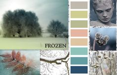 """Download this page in PDF formatUnder the frozen filigree of glistening ice, colors are preserved crisp and beautiful. In the quiet winter nights the trees are dressed in icy glitter, creating a picture so enchanting and surreal as if painted by an artist. The colors of """"Frozen"""" are soft and clean – cool green, dusty …"""