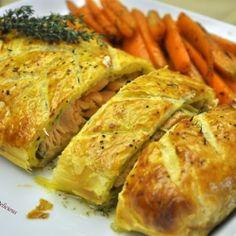 Salmon in puff pastry crust by DisturbinglyDelicios