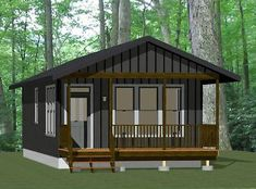 PDF house plans, garage plans, & shed plans. Tiny House Cabin, Tiny House Plans, Modern House Plans, House Floor Plans, Tiny Houses, Tiny Home Floor Plans, A Frame Cabin, A Frame House, Cabin Plans