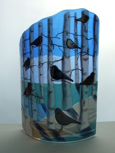 Bird Panels - dortepape Stained Glass Projects, Fused Glass Art, Glass Jewelry, Textile Art, Tupper Lake, Glass Lights, Art Pieces, Projects To Try, Birds