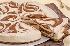 La cheesecake marmorizzata