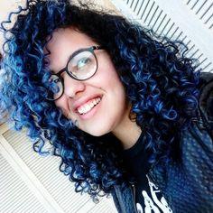 Cabelo Cacheado Azul #hair #hairstyle #bluehair #curlyhair