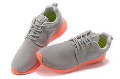 Chaussures Nike Roshe Run rouge Orange/gris prix de gros