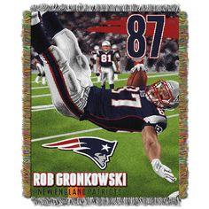 "Rob Gronkowski - Patriots """"Players"""" 48x60 Tapestry Throw"