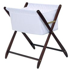Cariboo Folding Bassinet In Mahogany and Luxury Baby Cribs in Baby Furniture Baby Nursery Furniture, Nursery Room Decor, Kids Furniture, Furniture Decor, Best Bassinet, Baby Bedroom, Toddler Gifts, Nursery Inspiration, Folding Chair