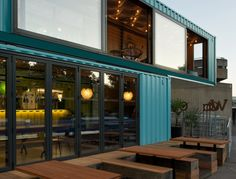 Softroom Architects Shipping Container Restaurant Wahaca in London | Remodelista