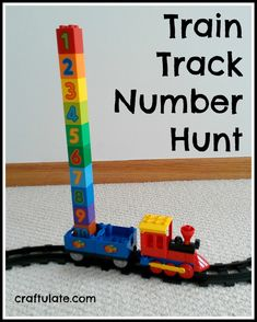 Train Track Number Hunt - a fun way to learn 1-10!
