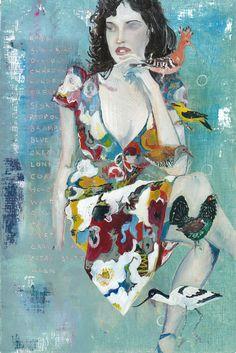 "Saatchi Online Artist: Philip Ryland; Oil, 2012, Painting ""The Birds in our Garden."""