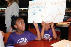 Boys & Girls club kids got to make signs to support their Silver Stars before the game on Camp Day!