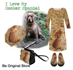 My Cocker Spaniel Outfit by beoriginalstore on Polyvore featuring fashionset, erikakaisersot and beoriginalstore