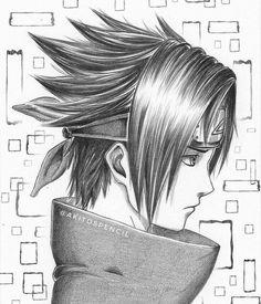 Sasuke Uchiha by Anime - Naruto Shippuden Sasuke, Anime Naruto, Art Naruto, Naruto Sketch, Naruto Sasuke Sakura, Anime Sketch, Otaku Anime, Manga Anime, Boruto