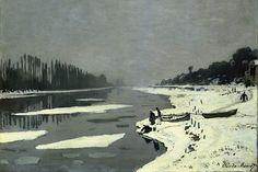"""Claude Monet : """"Glaçons sur la Seine à Bougival, dit Neige sur la rivière"""", 1867-1868 Musée du Louvre, Paris. ©"""