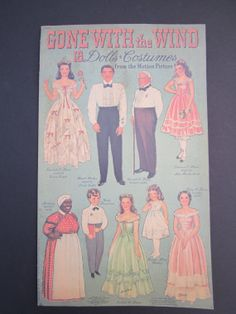 Gone With the Wind  Dolls and Costumes Paper by GOSHENPICKERS, $375.00