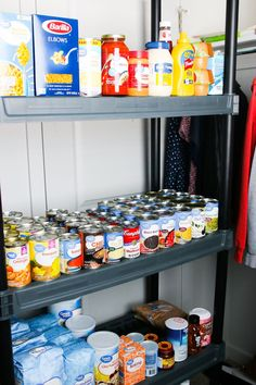 What to buy for food storage. Food to stock up on in emergencies. What to stock up on for corona virus. Food storage for small spaces. Lds Food Storage, Food Storage Rooms, Food Storage Organization, Emergency Food Storage, Long Term Food Storage, Small Space Storage, Storage Ideas, Emergency Preparedness Food, Prepper Food