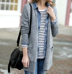 a3d281f14f Casual layers  boyfriend cardigan