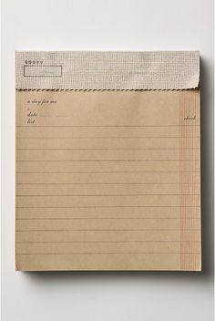 kraft paper notepad gotta find one
