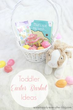 Beautiful and easy Easter basket idea! This easter basket is so cute and colorful and doesn't have lot of candy in it! Check out this Easter Basket idea now!