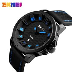 SKMEI Luxury Brand Military Watches Men Quartz Analog 3D Face Leather Clock Man Sports Watches Army Watch Relogios Masculino