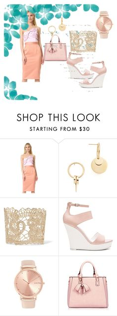 """""""bow look....!!!!!!"""" by hillarymaguire ❤ liked on Polyvore featuring Cynthia Rowley, Amber Sceats, Valentino, Seychelles and RumbaTime"""