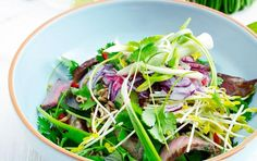 Spicy beef-salad - fit living
