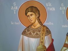 Saint Stephen the Protomartyr (first martyr) and Archdeacon.