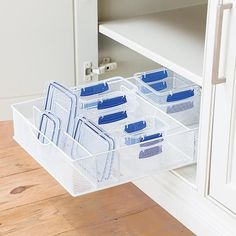 White Mesh Food Storage & Lid Organizers | The Container Store
