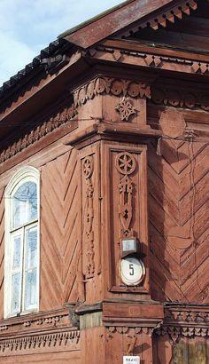 russian wooden house,Novgorod