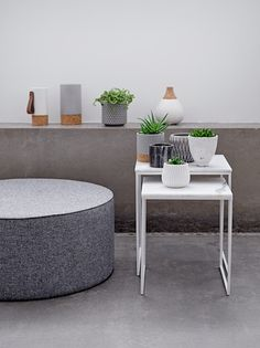 Bloomingville is a Danish contemporary design company that offer a wide range of home accessories, design furniture, kitchen styles and outdoor designs. Home Interior Design, Interior Decorating, Bubble, Vase Design, White Marble, Home Accessories, Ottoman, Furniture Design, Table Settings