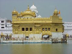 The Golden Gurdwara at Amritsar is the focal point of a faith which by the simplicity of its belief its exalting moral principles and sustained heroism has won an honored place in the history of Punjab, India