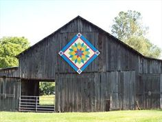 Carpenters Wheel at Murphy Barn-Unicoi, TN - Painted Barn Quilts on Waymarking.com