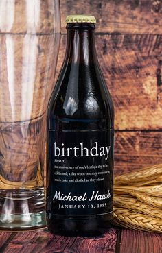 Personalize the beer at your next birthday party or better yet give this out as a creative gift to your next friend's birthday!