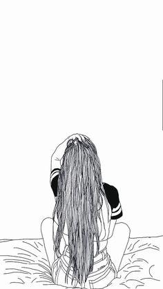 Imágenes. Hipster Girl Drawing, Tumblr Girl Drawing, Tumblr Sketches, Girl Drawing Sketches, Tumblr Drawings, Cute Girl Drawing, Girly Drawings, Tumblr Art, Drawing Wallpaper