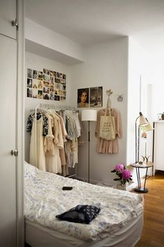 styling, rolling rack, garment rack, decor, small closets, how to style, pretty closets, ideas, diy, not your standard
