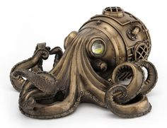 Bronze Steampunk Octopus Secret Trinket Box Sculpture signature collectible item decoration free shipping by DecoExpert on Etsy https://www.etsy.com/listing/250703007/bronze-steampunk-octopus-secret-trinket