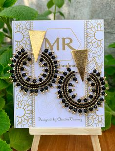 Beaded Bracelet Patterns, Beaded Earrings, Statement Earrings, Earrings Handmade, Beaded Jewelry, Handmade Jewelry, Beaded Bracelets, Flower Wall Backdrop, Wall Backdrops