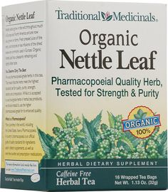 Traditional Medicinals Organic Nettle Leaf Herbal Tea !! This tea works wonders for seasonal allergies! Suggested to me by my Naturopathic Doctor who uses the same brand.    #vitacostfoodie