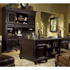 Tommy Bahama Home Kingstown Admiralty Executive Desk  & Credenza for my office