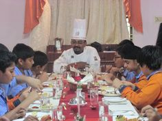 Brand CAI conducted a workshop for the seventh graders of Oak ridge International School on 'Dining Etiquette'.