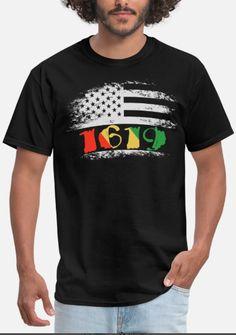 1619 Our Ancestors African Pride Black History Men's T-Shirt ✓ Unlimited options to combine colours, sizes & styles ✓ Discover T-Shirts by international designers now! Denim Jacket Men, Denim Jackets, Jean Jackets, Business Casual Men, Men Casual, Popular Mens Jeans, Ck Jeans, Winter Outfits Men, Mens Essentials