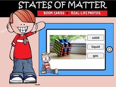 This pack includes 12 boom cards with real life photos to help your students identify the 3 states of matter.Interested in more Boom cards in Science? Science Lesson Plans, Science Resources, Learning Activities, Teacher Resources, Teaching Ideas, Elementary Science Classroom, Middle School Science, States Of Matter, Science Notebooks